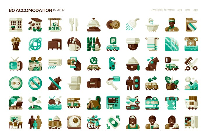 Thumbnail for 60 Accommodation Icons