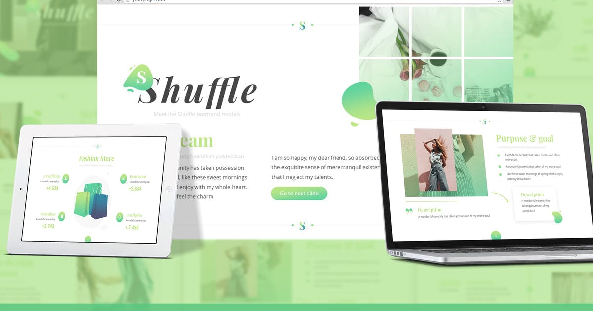 Download Shuffle - Fashion Design Google Slides Template by SlideFactory