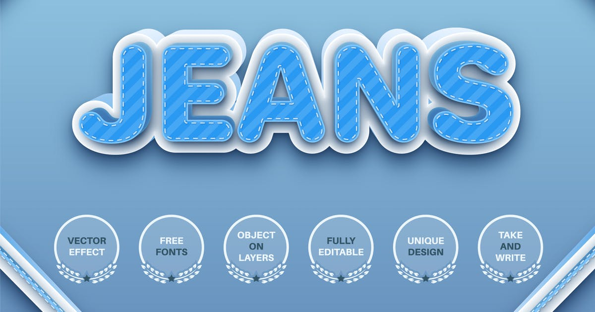 Download Jeans - editable text effect, font style by rwgusev