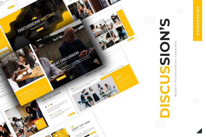 Thumbnail for Discussions Meeting - Powerpoint Template
