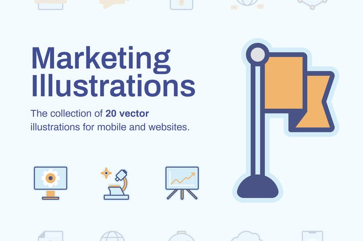 Thumbnail for Marketing Illustrations (20 items)