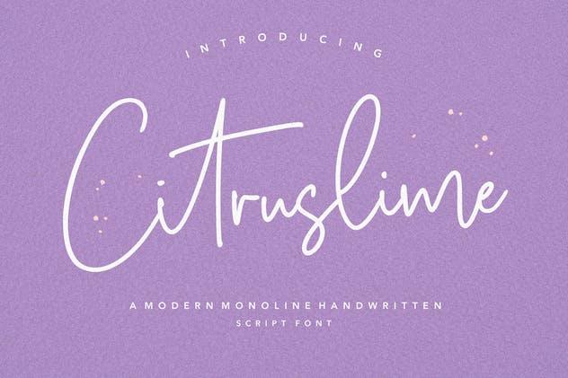 Citruslime Signature Font YH