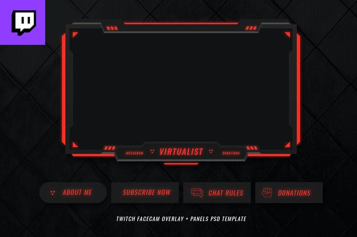 Twitch Facecam Overlay V2