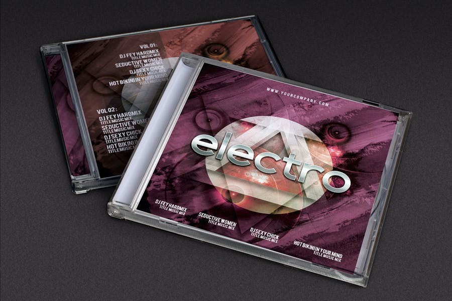 CD Cover Futuristic Music