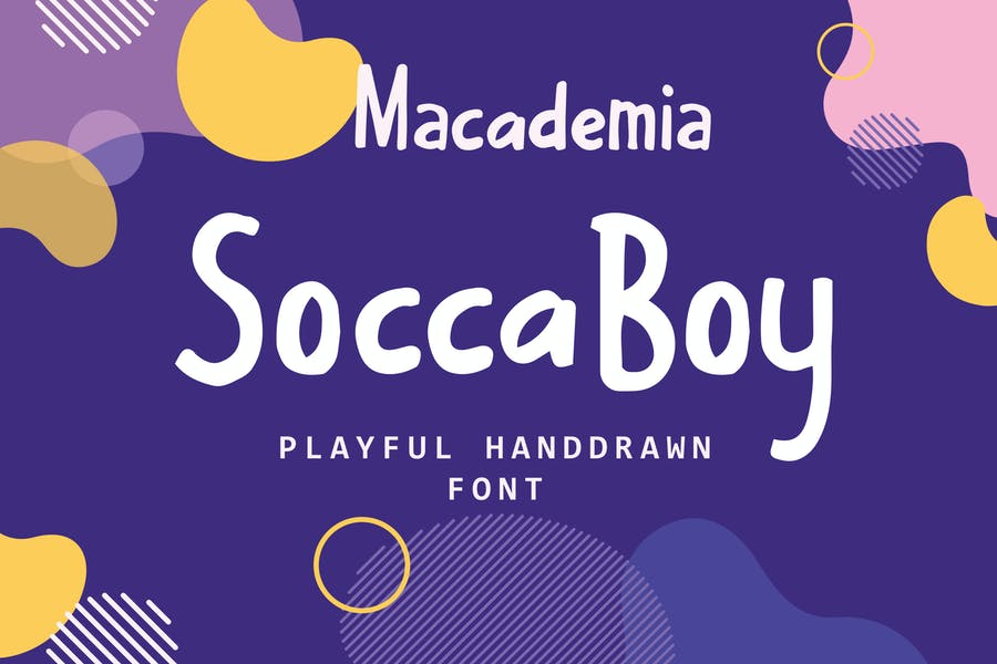 Soccaboy - Playful Handrawn Font