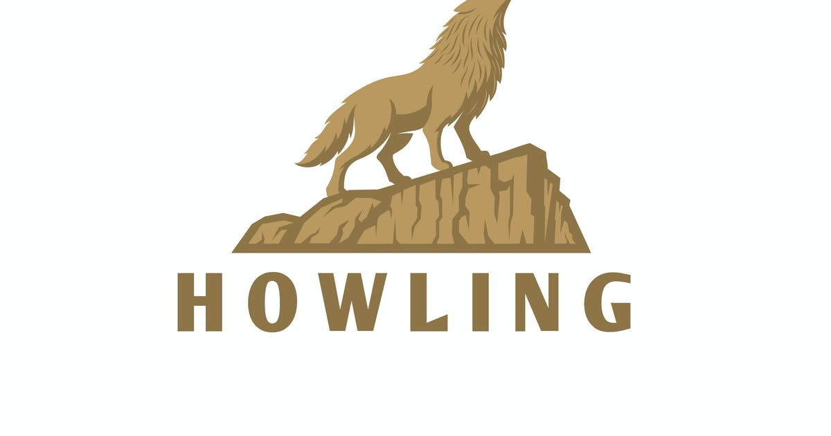 Download Howling - Wolf on Cliff Logo by Suhandi