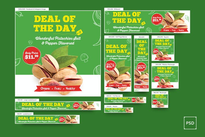 Thumbnail for Organic Market, Fresh Food Banners Ad