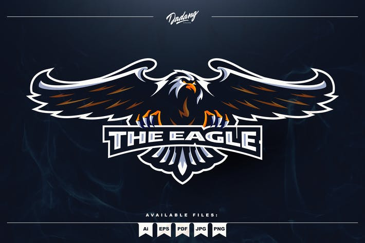 The Eagle Mascot Logo