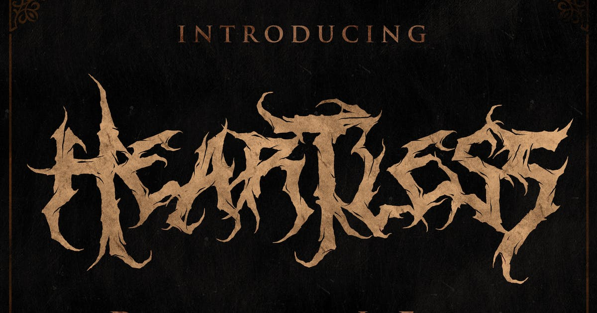 Heartless - Deathmetal Font by shirongampus