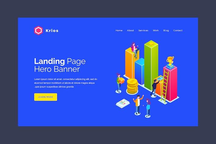 Thumbnail for Krios - Бизнес-инфографический баннер