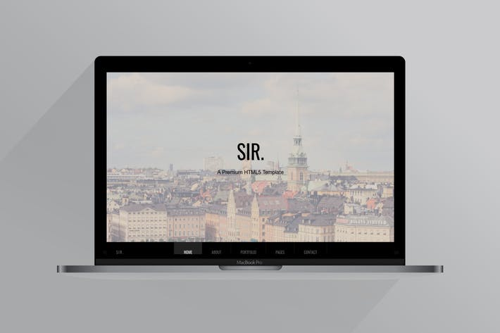 Thumbnail for Sir | Responsive HTML Portfolio Template