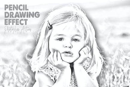 Pencil Drawing Effect for Photoshop