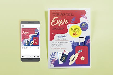 Travel Expo Template Set