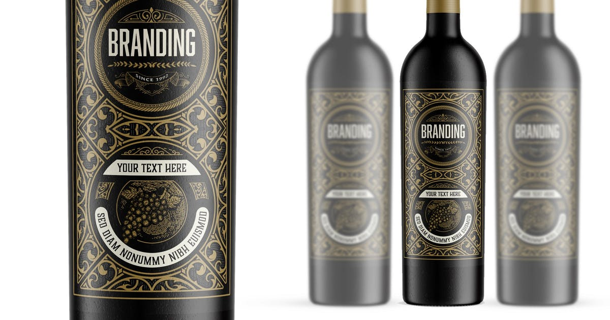 Download Vintage wine label by roverto007
