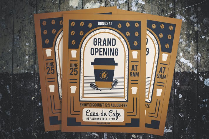 Thumbnail for Cafe Grand Opening Flyer
