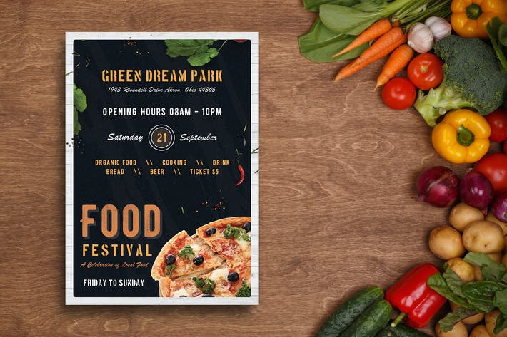 Thumbnail for Food Festival Flyer-09