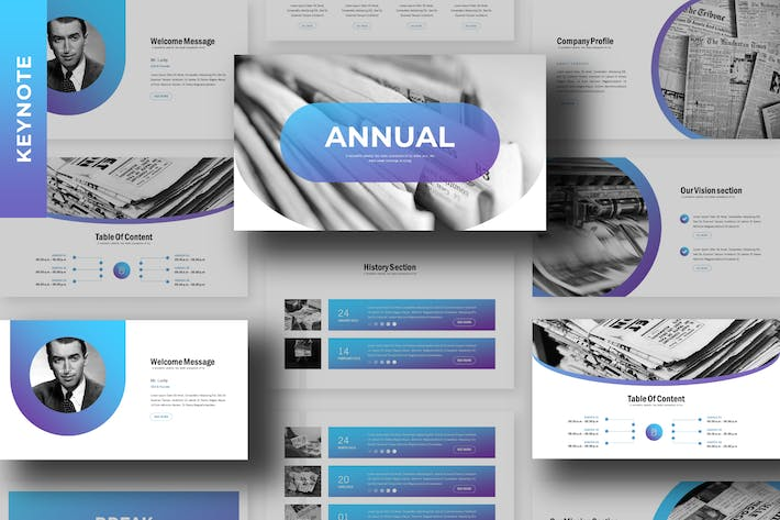 Thumbnail for Annual - Business Keynote Template