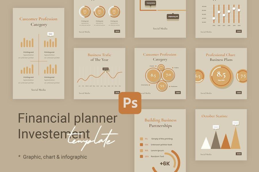 Charts & Graphs Instagram Templates for Finance V1