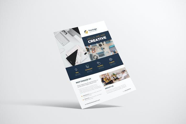 Thumbnail for Clean Creative Business Design mit blauer Farbe