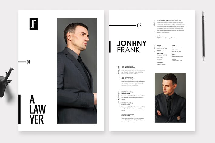 Thumbnail for Lawyer Resume / CV Template 36
