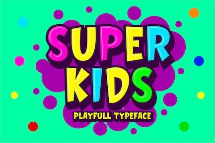 Super Kids - Playfull Typeface