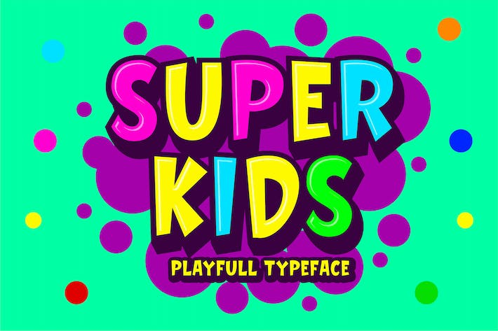 Thumbnail for Super Kids - Playfull Typeface