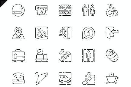 Simple Set Public Navigation Line Icons