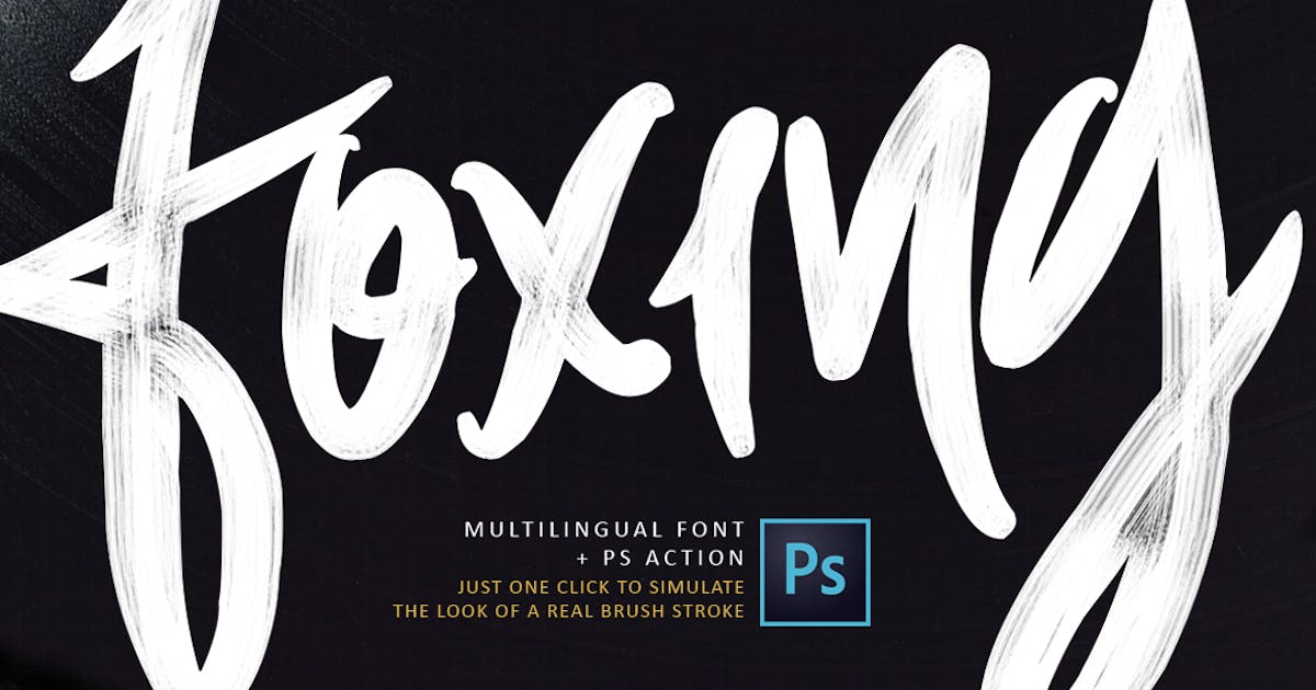 Download Foxing Font + PS Action by TheBrandedQuotes