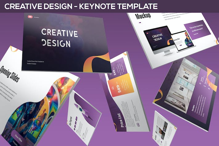 Thumbnail for Creative Design - Keynote Template