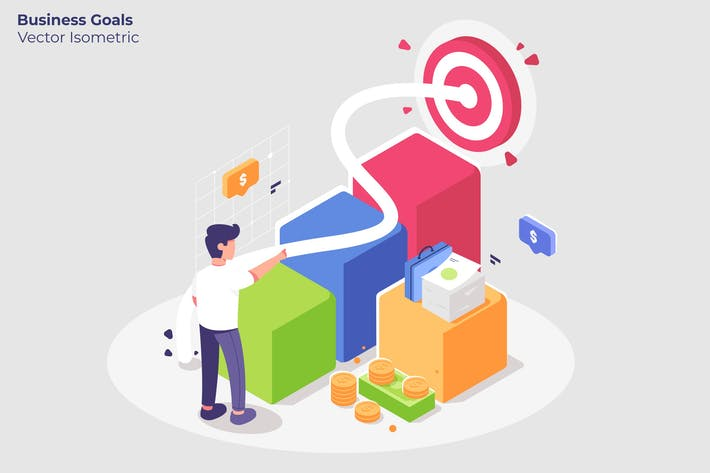 Thumbnail for Business Goals - Vector Illustration