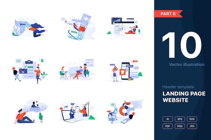 Thumbnail for [Part 5] Website illustrations set
