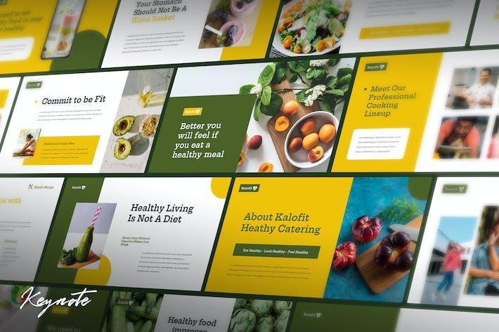 Kalofit - Шаблон Keynote здоровой пищи