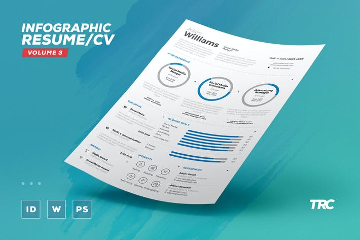 Thumbnail for Infographic Resume/Cv Volume 3