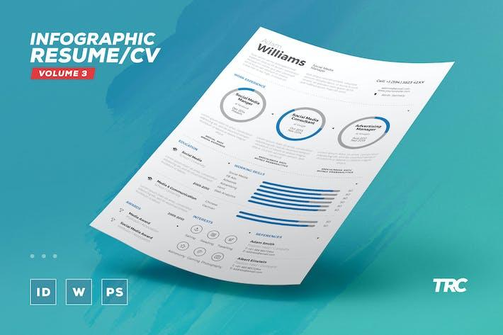 thumbnail for infographic resumecv volume 3