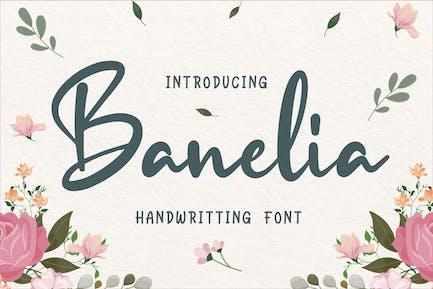 Banelia Handwritting Font