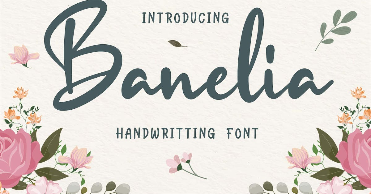 Download Banelia Handwritting Font by Blankids
