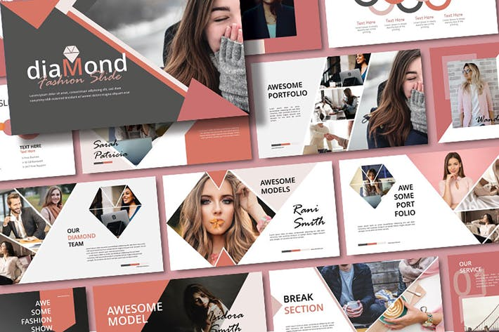 Thumbnail for DIAMOND - Fashion Powerpoint Template