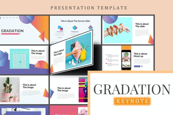 Thumbnail for Gradation - Keynote Template