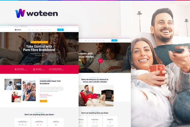 Woteen - Broadband and Telecom Business PSD - product preview 0