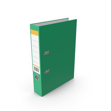 Carpeta de documento Verde