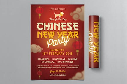 Chinese New Year Flyer 2018