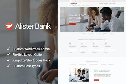 Alister Bank - Credits & Banking Finance WP Theme