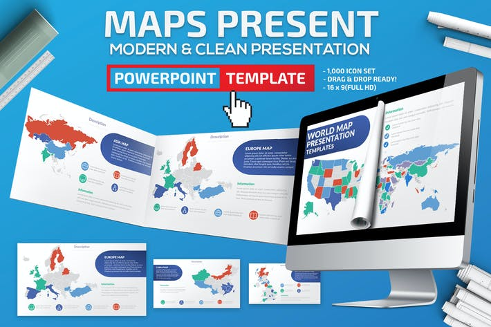 Cover Image For Maps Powerpoint Presentation