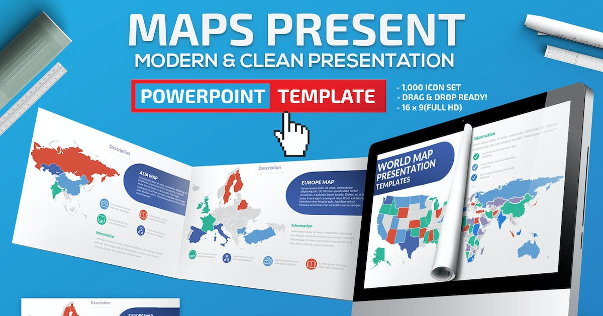 Download Maps Powerpoint Presentation by mamanamsai