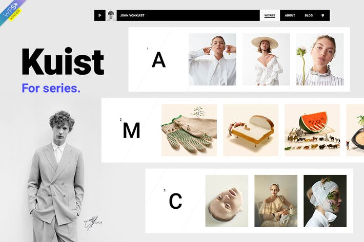 Thumbnail for Kuist - Portfolio WordPress Theme for Series