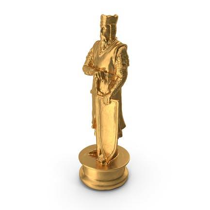 Schachfigur König Gold