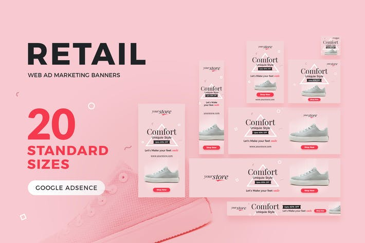 Thumbnail for Retail Web Ad Marketing Banners