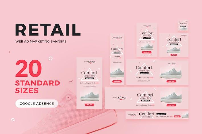 Thumbnail for Bannières de marketing publicitaire sur le Web au détail