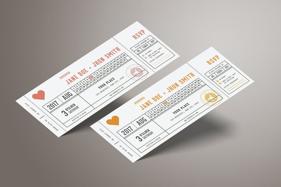 Wedding Invitation Ticket 2