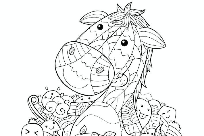 Pferd Doodle